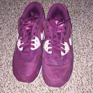 Maroon and Pink Nike AirMax